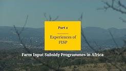 Experiences of fisp: farm input…