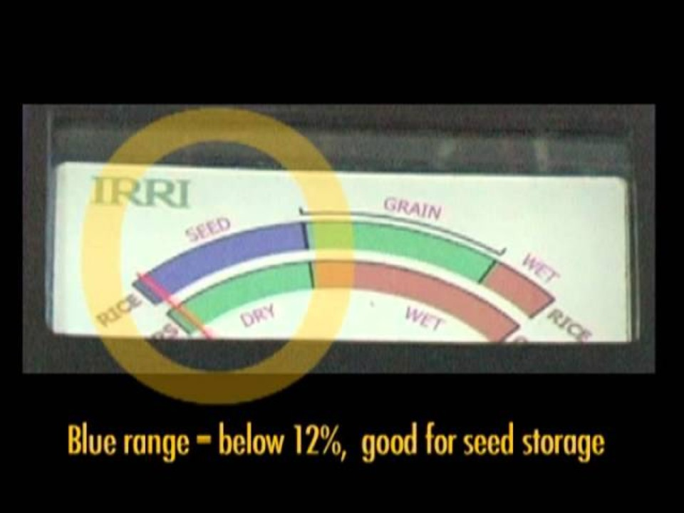 Using an IRRI Moisture Meter (…