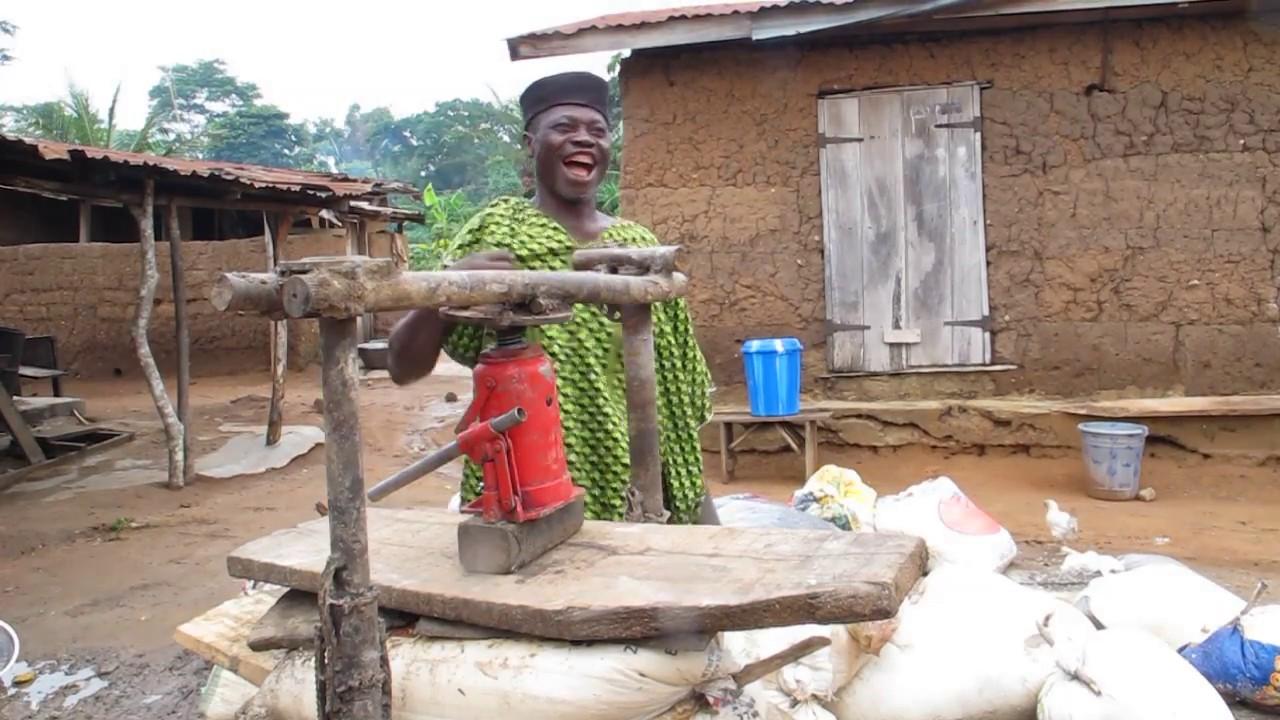 Pressing cassava