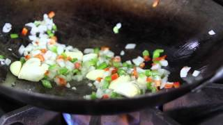 Recipe for fried rice using an…