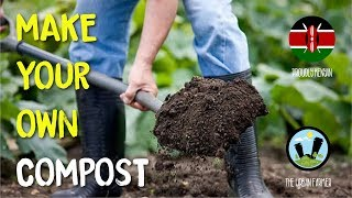 How to make compost at home.