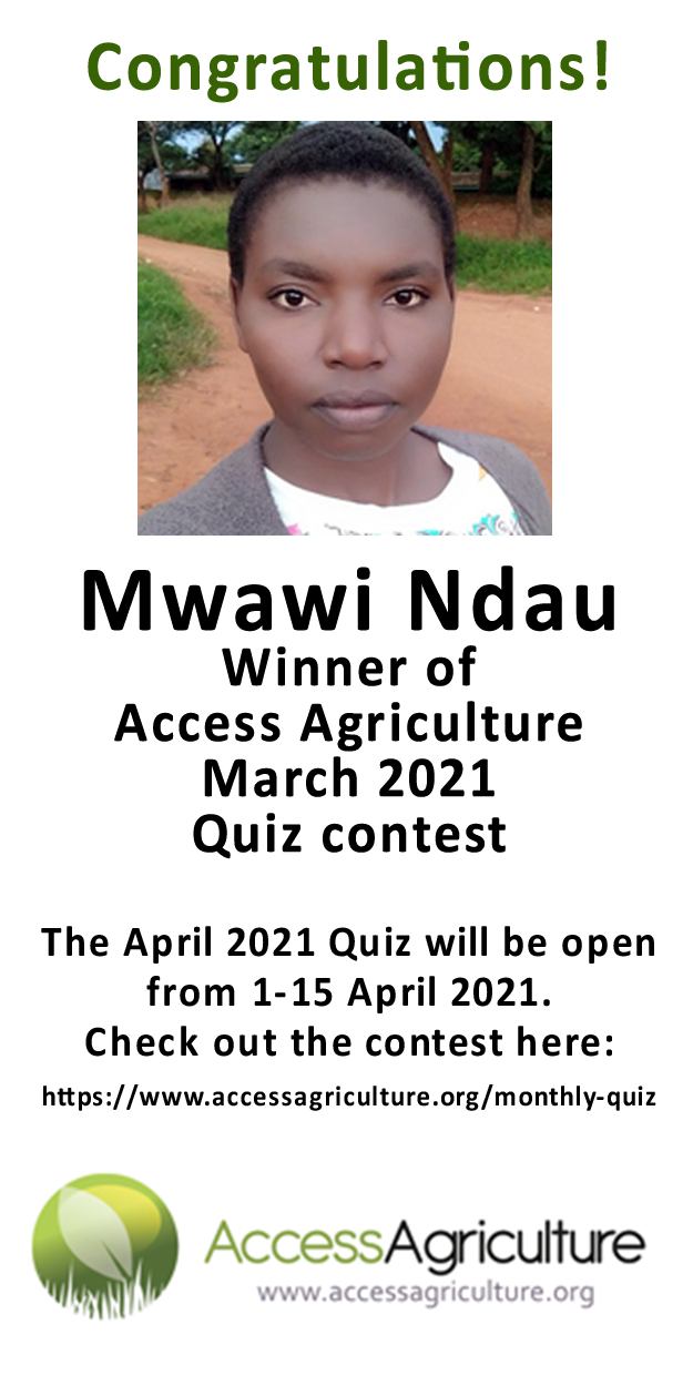 Mwawi Ndau  - Winner of Access Agriculture March 2021 Quiz contest