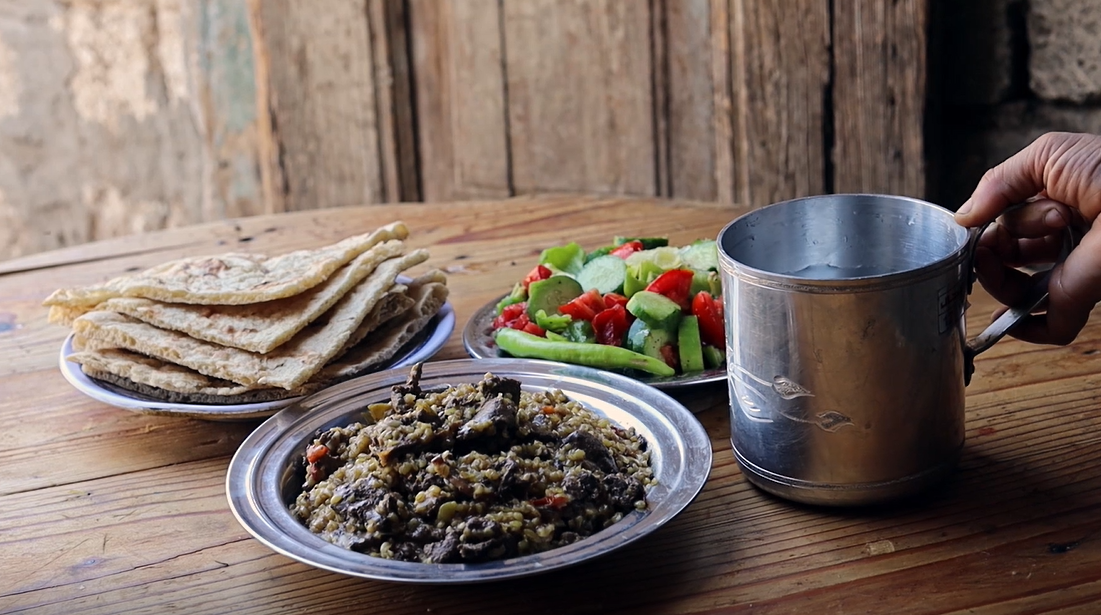 Fereek with Kebda - a nutritious…